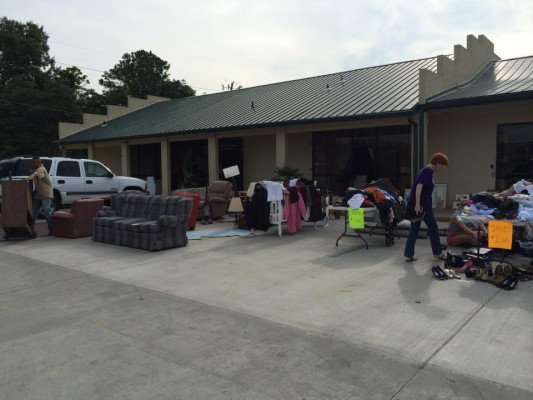 Pic of rummage sale